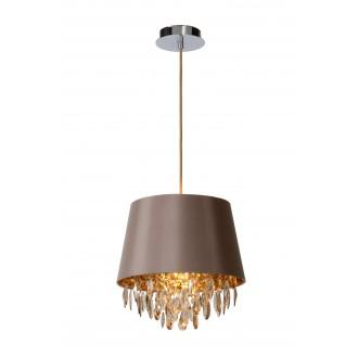 LUCIDE 78368/30/41 | Dolti Lucide függeszték lámpa rövidíthető vezeték 1x E27 taupe, króm