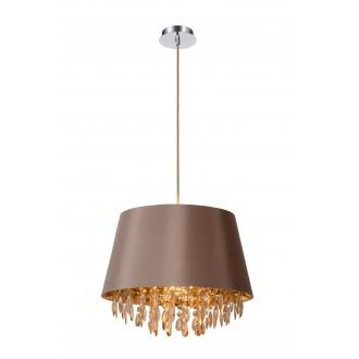 LUCIDE 78368/45/41 | Dolti Lucide függeszték lámpa rövidíthető vezeték 1x E27 taupe, króm