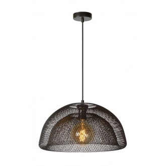 LUCIDE 78387/01/30 | Mesh Lucide függeszték lámpa rövidíthető vezeték 1x E27 fekete