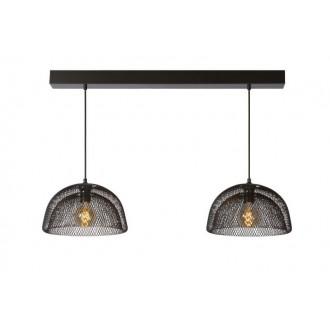 LUCIDE 78387/02/30 | Mesh Lucide függeszték lámpa rövidíthető vezeték 2x E27 fekete