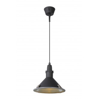 LUCIDE 79459/25/30 | Tonga Lucide függeszték lámpa 1x E27 IP44 fekete, átlátszó