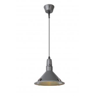 LUCIDE 79459/25/36 | Tonga Lucide függeszték lámpa 1x E27 IP44 szürke, átlátszó