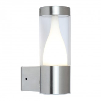 LUTEC 5008101001 | Virgo-LU Lutec falikar lámpa 1x LED 350lm 3000K IP44 nemesacél, rozsdamentes acél, átlátszó