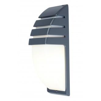 LUTEC 5183601118 | City-LU Lutec fali lámpa 1x E27 IP44 antracit szürke, opál