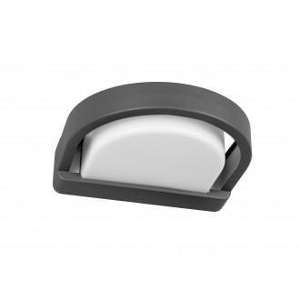 LUTEC 5184901118 | Origo Lutec falikar lámpa 1x E27 IP54 antracit szürke, opál