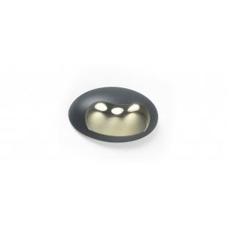 LUTEC 5186004118 | Eyes Lutec fali lámpa 1x LED 370lm 4000K IP54 antracit szürke, átlátszó