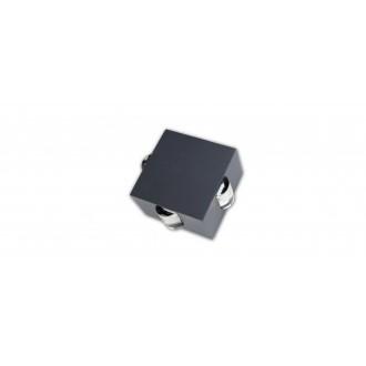 LUTEC 5186304118 | Evans Lutec fali lámpa 1x LED 222lm 4000K IP54 antracit szürke, átlátszó