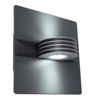 LUTEC 5187901000 | Split-LU Lutec falikar lámpa 1x LED 480lm 4000K IP44 antracit szürke, átlátszó