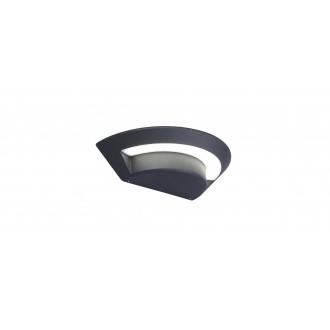 LUTEC 5188003118 | Ghost-LU Lutec fali lámpa 1x LED 360lm 4000K IP54 antracit szürke