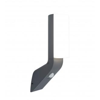 LUTEC 5188602125 | Bati Lutec falikar lámpa mozgásérzékelő, fényérzékelő szenzor - alkonykapcsoló 1x LED 1100lm 4000K IP44 sötét szürke, opál