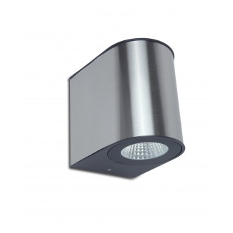 LUTEC 5189001118 | Gemini Lutec fali lámpa 1x LED 1240lm 4000K IP54 ezüstszürke, átlátszó