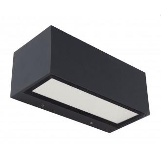 LUTEC 5189101118 | Gemini Lutec fali lámpa 1x LED 1230lm 4000K IP54 fekete, átlátszó