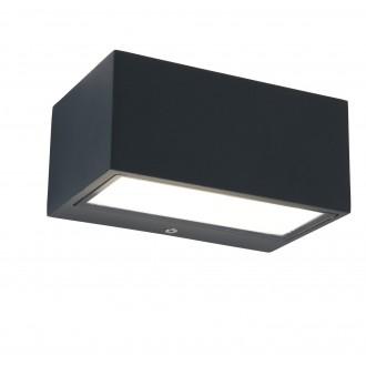 LUTEC 5189102118 | Gemini Lutec fali lámpa 1x LED 500lm 4000K IP54 antracit szürke, átlátszó