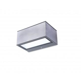 LUTEC 5189103118 | Gemini Lutec fali lámpa 1x LED 500lm 4000K IP54 nemesacél, rozsdamentes acél, átlátszó