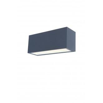 LUTEC 5189104118 | Gemini Lutec fali lámpa 1x LED 3300lm 4000K IP54 antracit szürke, átlátszó