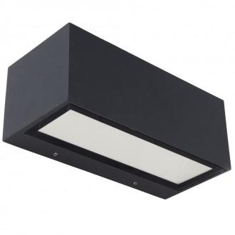 LUTEC 5189112118 | Gemini Lutec fali lámpa 1x LED 1230lm 3000K IP54 fekete, átlátszó