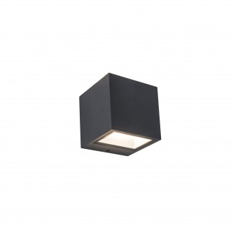 LUTEC 5189114118 | Gemini Lutec fali lámpa 1x LED 850lm 4000K IP54 sötétszürke