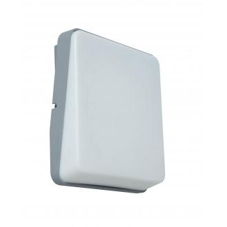 LUTEC 5189401112 | Even Lutec fali lámpa 1x LED 650lm 3000K IP54 ezüstszürke, opál