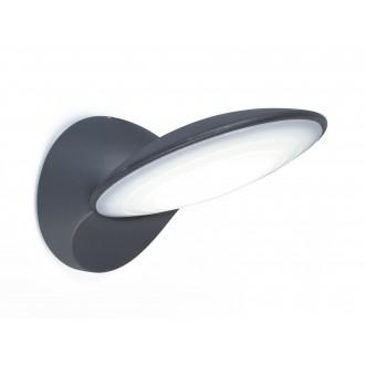 LUTEC 5189601118 | Tona Lutec falikar lámpa 1x LED 600lm 3000K IP44 antracit szürke, opál
