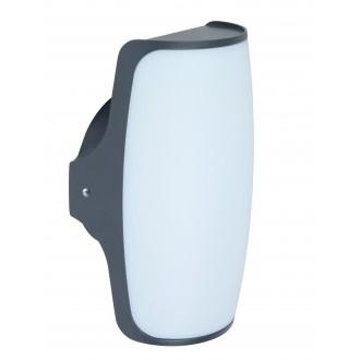 LUTEC 5189901118 | Seco Lutec falikar lámpa 1x LED 770lm 3000K IP54 antracit szürke, opál