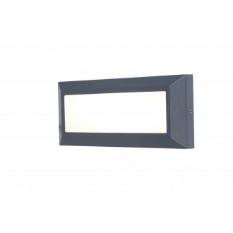 LUTEC 5191601118 | Helena-LU Lutec fali lámpa 1x LED 400lm 4000K IP54 antracit szürke, opál