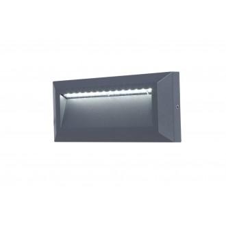 LUTEC 5191602118 | Helena-LU Lutec fali lámpa 1x LED 400lm 4000K IP54 antracit szürke, opál