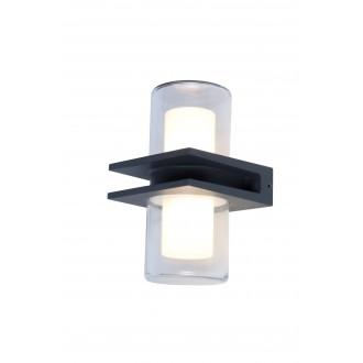 LUTEC 5192901118 | Mito Lutec falikar lámpa 1x LED 800lm 3000K IP54 antracit szürke, opál, átlátszó