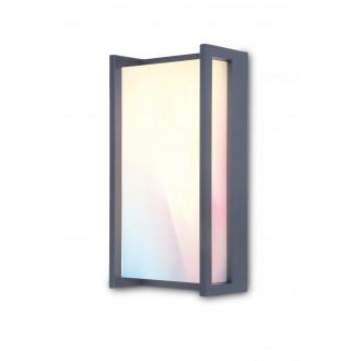 LUTEC 5193003118 | WiZ-Qubo Lutec fali WiZ okos világítás szabályozható fényerő, állítható színhőmérséklet, színváltós, elforgatható alkatrészek, WiFi kapcsolat 1x LED 1000lm 2200 <-> 6500K IP54 antracit szürke, opál