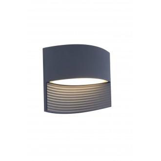 LUTEC 5193201118 | Lotus-LU Lutec fali lámpa 1x LED 500lm 3000K IP54 antracit szürke, áttetsző