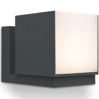 LUTEC 5193803118 | Cuba-LU Lutec falikar lámpa elforgatható alkatrészek 1x LED 600lm 3000K IP54 sötétszürke, opál
