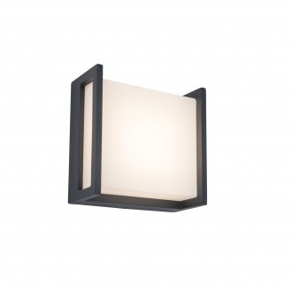 LUTEC 5195401118 | Qubo Lutec fali lámpa 1x LED 650lm 3000K IP54 sötétszürke, opál