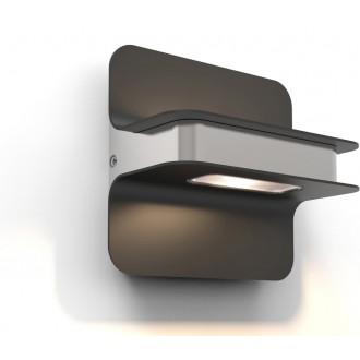 LUTEC 5195801001   Hill Lutec fali lámpa 1x LED 650lm 3000K IP54 sötétszürke, szürke, átlátszó
