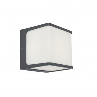 LUTEC 5197002125 | Telin Lutec fali lámpa 1x LED 800lm 3000K IP54 sötétszürke, opál