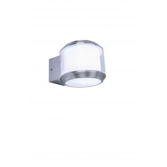 LUTEC 5198701001 | Whisper Lutec falikar lámpa E27 IP44 nemesacél, rozsdamentes acél, opál