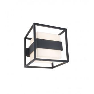 LUTEC 5199201118 | Cruz-LU Lutec fali lámpa 1x LED 1000lm 3000K IP54 sötétszürke, opál