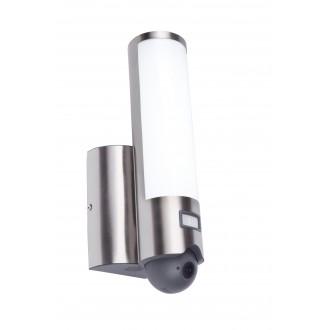 LUTEC 5267101001 | Secury_Light-Elara Lutec kamerás lámpa fali mozgásérzékelő, fényérzékelő szenzor - alkonykapcsoló hangszóró, mikrofon, szabályozható fényerő, elforgatható alkatrészek, WiFi kapcsolat 1x LED 1200lm 3000K IP44 nemesacél, rozsdamentes acél