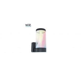 LUTEC 5271002118 | WiZ-Spica Lutec falikar WiZ okos világítás szabályozható fényerő, állítható színhőmérséklet, színváltós, elforgatható alkatrészek, WiFi kapcsolat 1x LED 1000lm 2200 <-> 6500K IP54 sötét szürke, opál