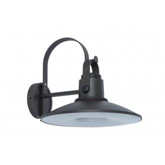 LUTEC 5274601412 | Darli Lutec falikar lámpa hangszóró, Bluetooth 1x LED 1500lm 3000K IP44 sötét szürke, opál