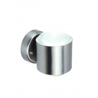 LUTEC 5521201001 | Crystal-LU Lutec falikar lámpa 1x LED 660lm 3000K IP44 nemesacél, rozsdamentes acél, átlátszó