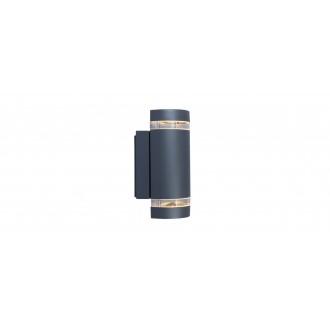 LUTEC 5604011118 | Focus-LUT Lutec falikar lámpa 2x GU10 IP44 antracit szürke, átlátszó