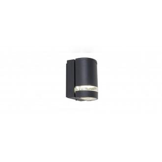 LUTEC 5604101118 | Focus-LUT Lutec falikar lámpa 1x GU10 IP44 antracit szürke, átlátszó