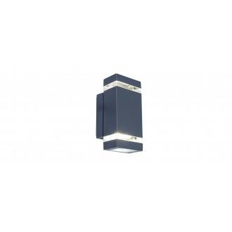 LUTEC 5605013118 | Focus-LUT Lutec falikar lámpa 1x LED 300lm 4000K IP44 antracit szürke, átlátszó