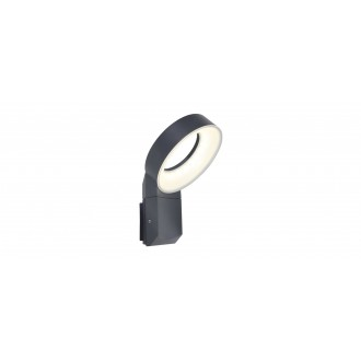 LUTEC 5616302118 | Meridian Lutec falikar lámpa 1x LED 800lm 3000K IP54 antracit szürke
