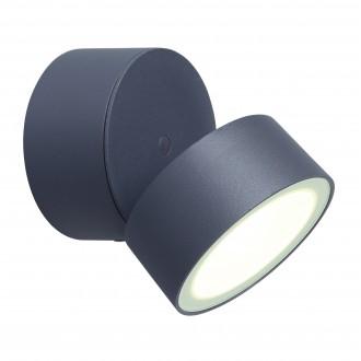 LUTEC 5626001118 | Trumpet-LU Lutec falikar lámpa elforgatható alkatrészek 1x LED 850lm 4000K IP54 antracit szürke