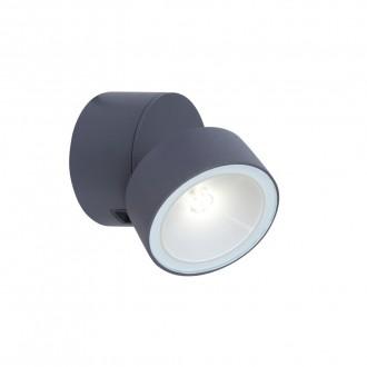 LUTEC 5626101125 | Trumpet-LU Lutec falikar lámpa elforgatható alkatrészek 1x LED 600lm 4000K IP54 szürke, opál