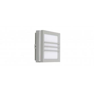 LUTEC 6334102112 | Seine Lutec fali, mennyezeti lámpa 1x LED 150lm 3000K IP54 ezüstszürke, opál