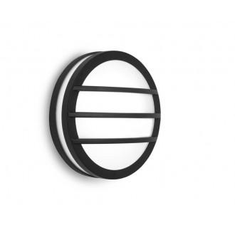 LUTEC 6336101118 | Titan Lutec fali, mennyezeti lámpa 1x E27 IP54 sötét szürke, opál
