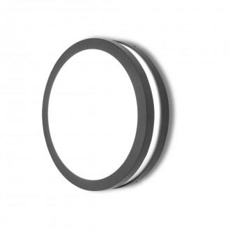 LUTEC 6336201118 | Titan Lutec fali, mennyezeti lámpa 1x E27 IP54 sötét szürke, opál