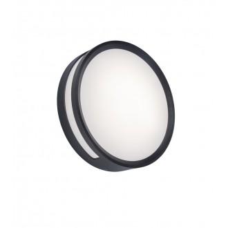 LUTEC 6382201118 | Rola Lutec mennyezeti lámpa 1x LED 800lm 3000K IP54 sötétszürke, opál