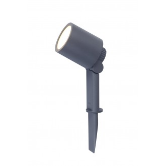 LUTEC 6609201118 | Explorer Lutec leszúrható lámpa elforgatható alkatrészek, vezetékkel, villásdugóval elátott 1x LED 300lm 3000K IP54 antracit szürke, átlátszó